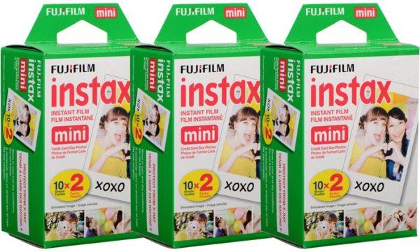 Fujifilm instax mini film 3x dubbelpak (60 foto´s)-1094
