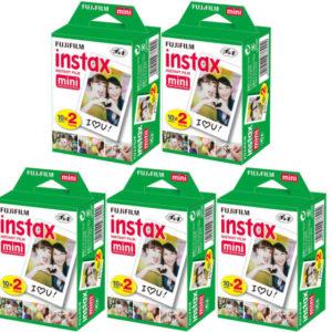 Fujifilm instax mini film 5x dubbelpak (100 foto´s) extra voordelig!-0