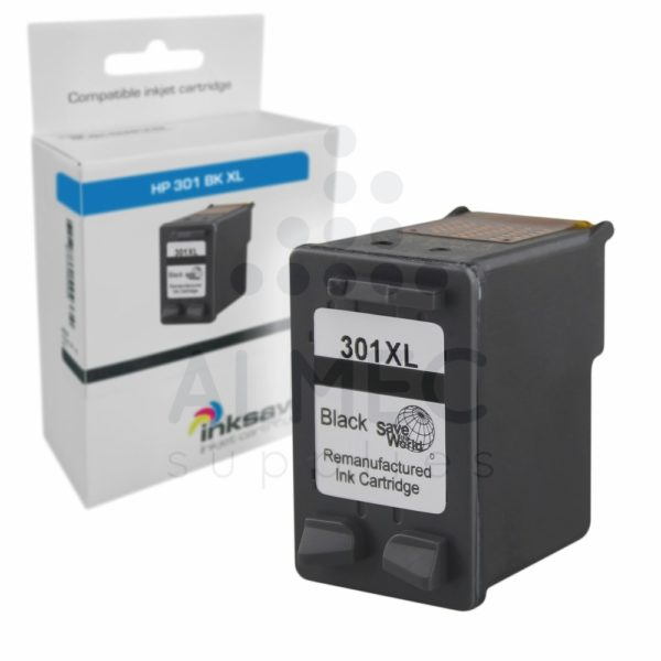 HP 301 BK XL inkt zwart HUISMERK-0