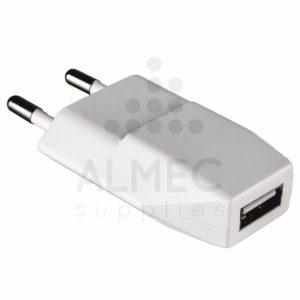 Thuislader 1xUSB smart IC 1A wit-0
