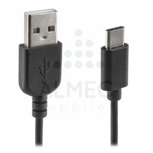 Data en laadkabel USB-C 1m zwart-0