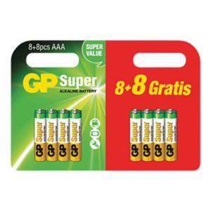 AAA batterij GP Batteries Super 8 + 8 gratis Alkaline 1.5 V 16 stuk(s)-0