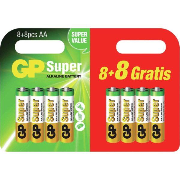 AA batterij GP Batteries Super 8 + 8 gratis Alkaline 1.5 V 16 stuk(s)-0
